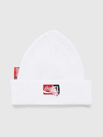 Diesel - CC-BEANY-COLA, White - Knit caps - Image 1