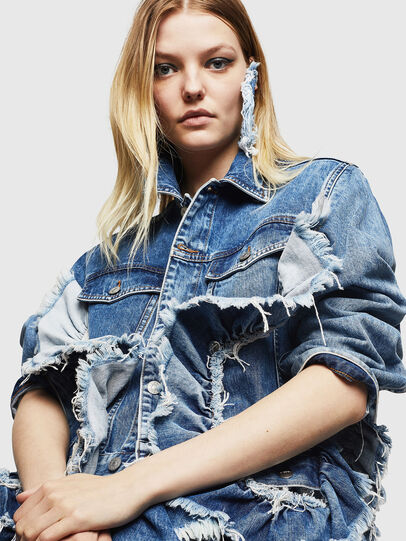 Diesel - DE-ABBY, Medium blue - Denim Jackets - Image 3