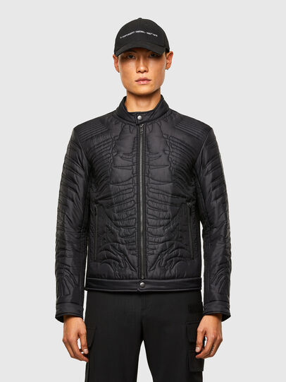 Diesel - W-SHARK, Black - Winter Jackets - Image 1