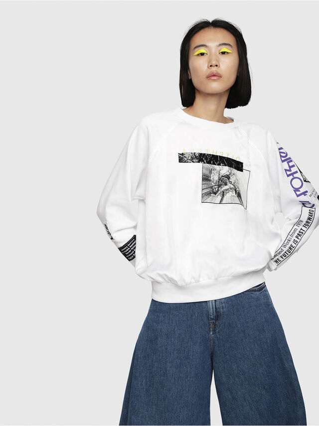 Diesel - F-JUSTY, White - Sweaters - Image 1
