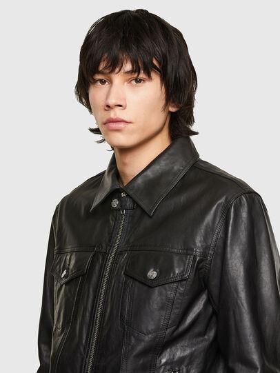 Diesel - L-PAD, Black - Leather jackets - Image 3