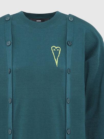 Diesel - M-MIRANDA, Water Green - Knitwear - Image 4