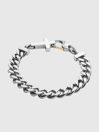 Diesel - DX1147, Silver - Bracelets - Image 1
