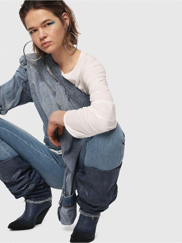 Diesel - Babhila High 081AF, Light Blue - Jeans - Image 4
