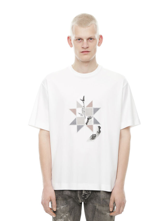 Diesel - TEORIAL-PEZZABOY2, White - T-Shirts - Image 1