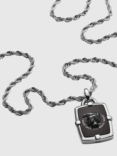 Diesel - DX1174, Silver/Black - Necklaces - Image 2