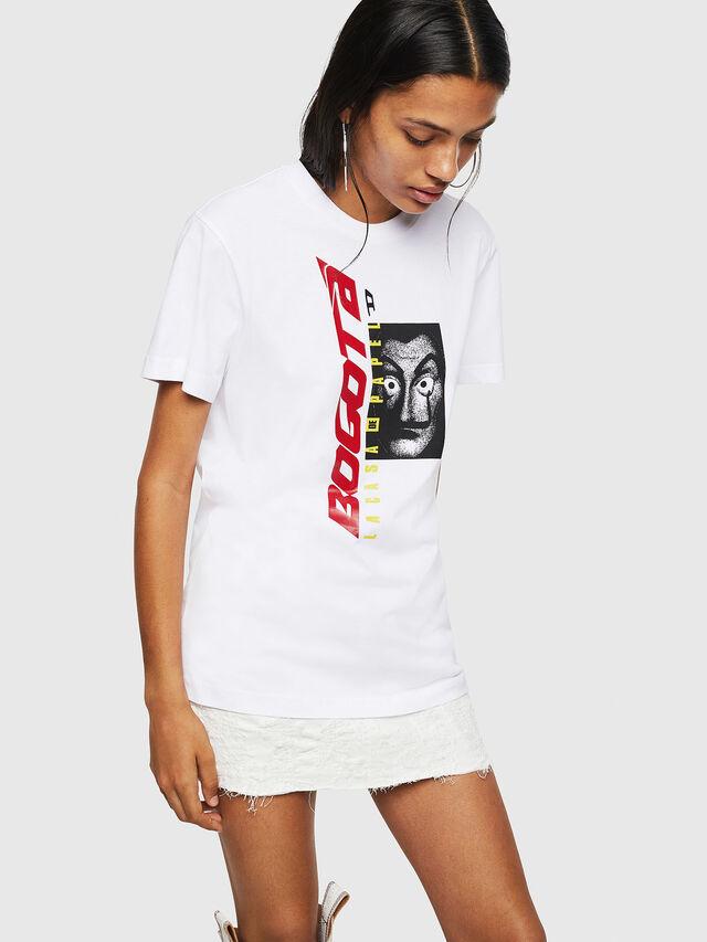 Diesel - LCP-T-DIEGO-BOGOTA, White - T-Shirts - Image 2