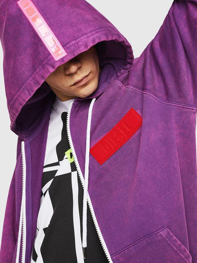 Diesel - S-GIM-HOOD-ZIP, Violet - Sweaters - Image 3