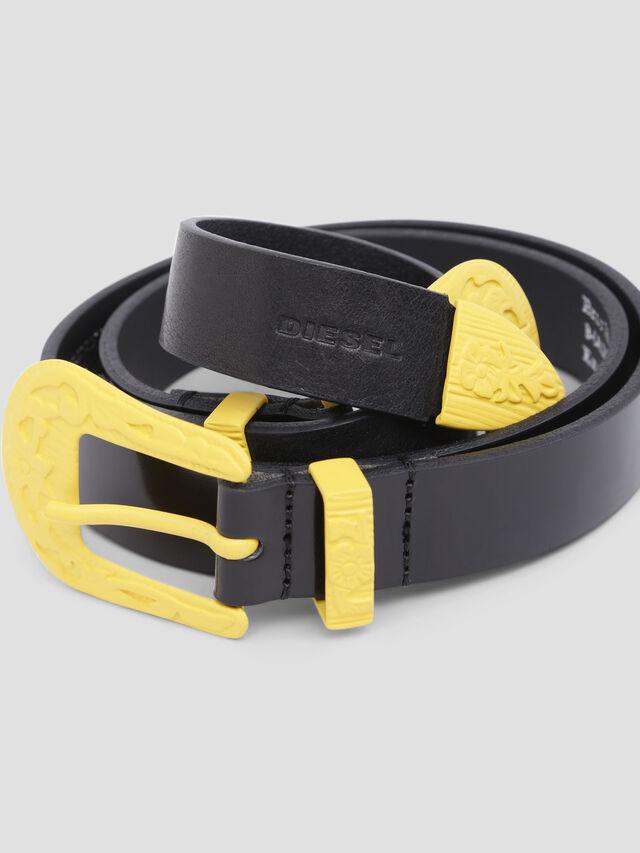 Diesel - B-CALDIERO, Black/Yellow - Belts - Image 2