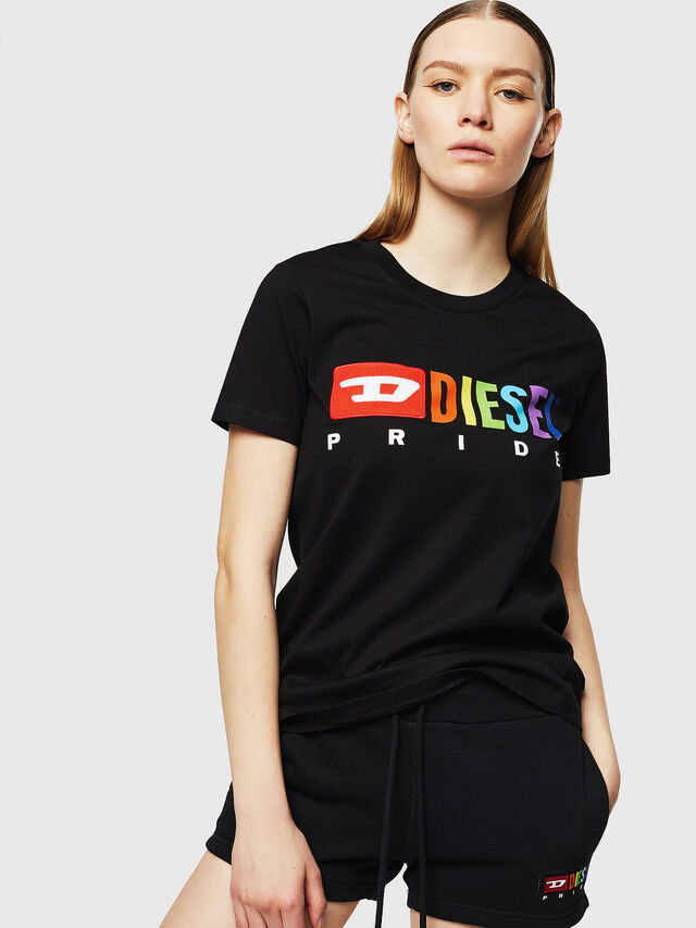 Diesel - UFTEE-SILY-INT, Black - T-Shirts - Image 1