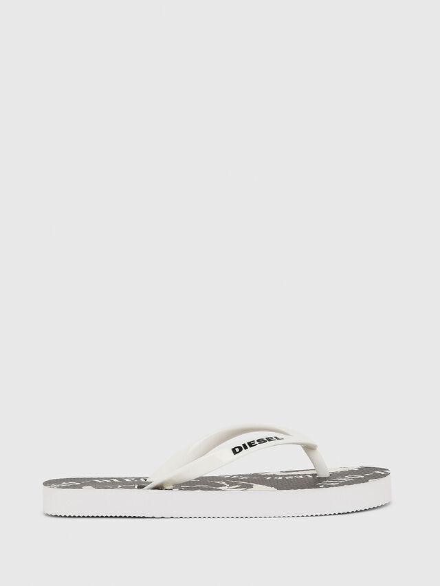 Diesel - FF 22 FLIPPER YO, White/Black - Footwear - Image 1