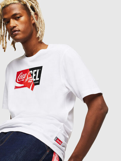 Diesel - CC-T-JUST-COLA, White - T-Shirts - Image 3