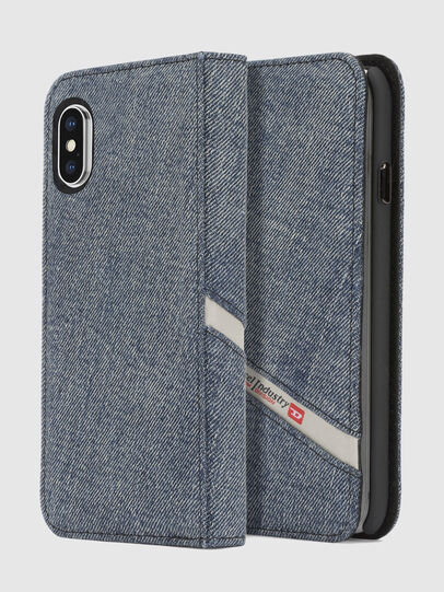 Diesel - DENIM IPHONE X FOLIO,  - Flip covers - Image 1