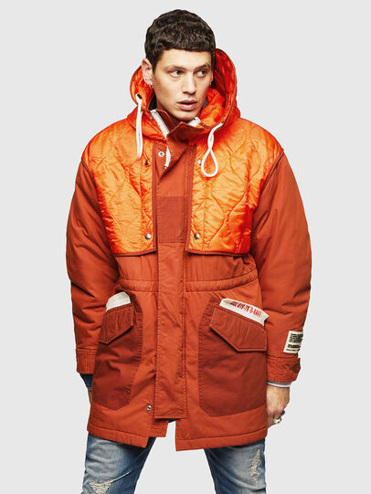 Diesel - W-KOVIK, Orange - Winter Jackets - Image 1