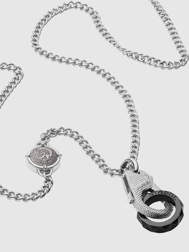Diesel - DX1150, Silver/Black - Necklaces - Image 2
