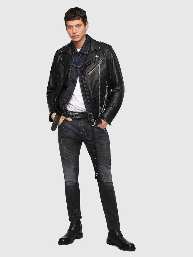 Diesel - CL-L-KIOV, Black Leather - Leather jackets - Image 5