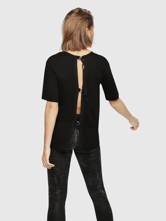 Diesel - T-FATIN-A, Black - T-Shirts - Image 2