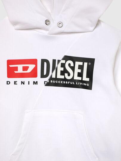 Diesel - SGIRKHOODCUTYX OVER, White - Sweaters - Image 3