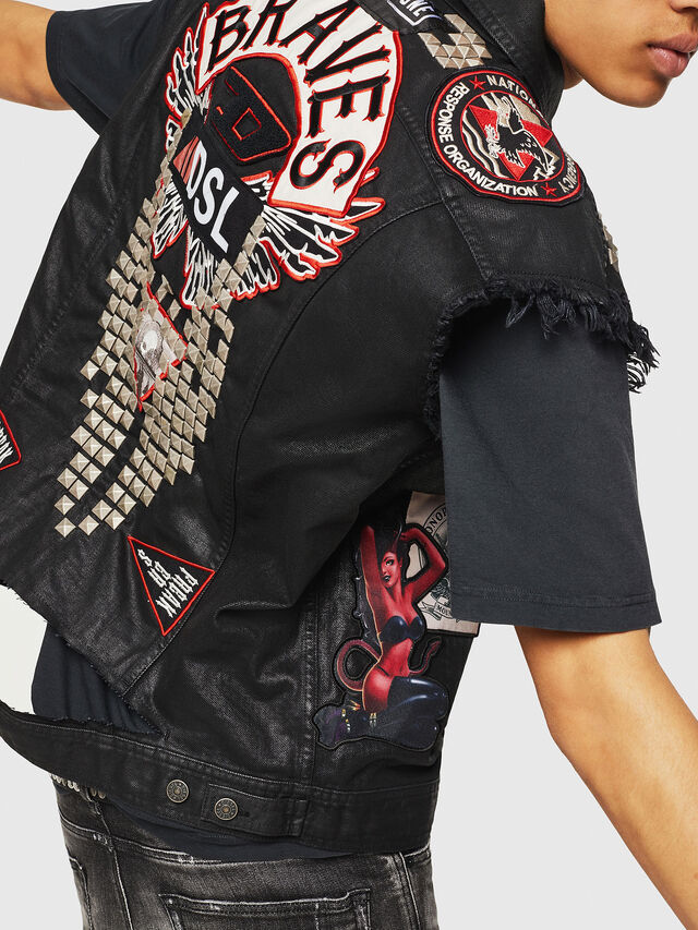 Diesel - PS-D-VINNY, Black - Denim Jackets - Image 8