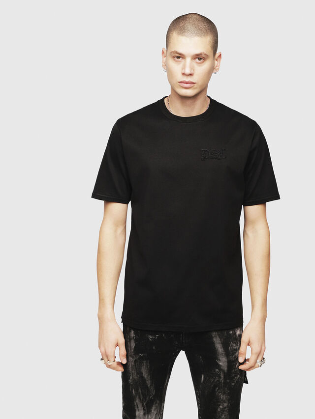 Diesel - T-JUST-XMAS, Black - T-Shirts - Image 1