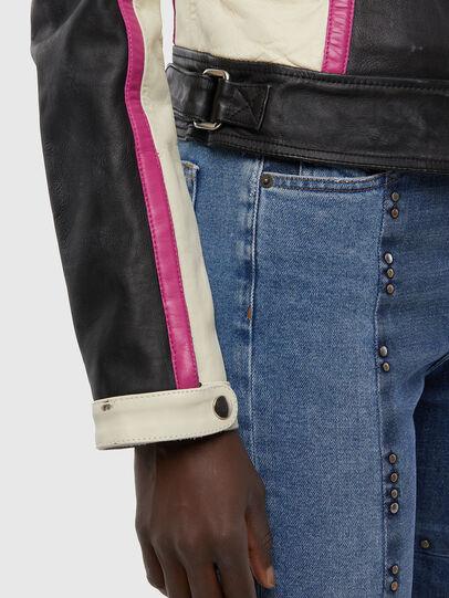 Diesel - L-JOBE, Black/White - Leather jackets - Image 5