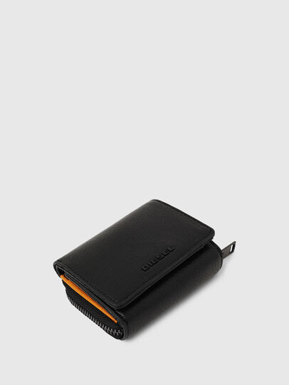 Diesel - SPEJAP, Black/Orange - Small Wallets - Image 4