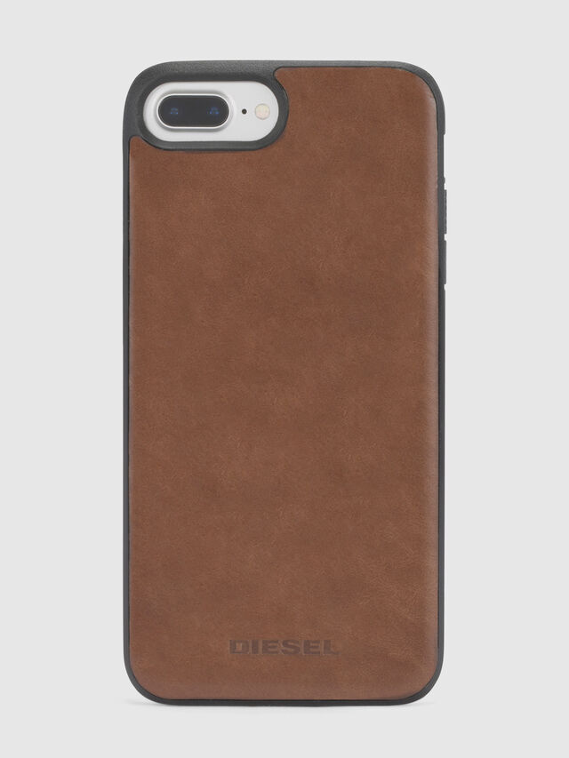 Diesel - BROWN LEATHER IPHONE 8/7/6s/6 CASE, Brown Leather - Cases - Image 2