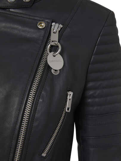 Diesel - L-IGE-NEW, Black - Leather jackets - Image 4