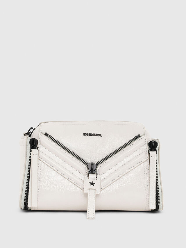 Diesel - LE-ZIPPER CROSSBODY, White - Crossbody Bags - Image 1