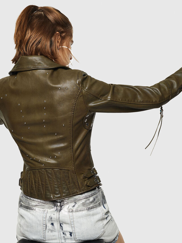 Diesel - L-SINYA-A, Military Green - Leather jackets - Image 6