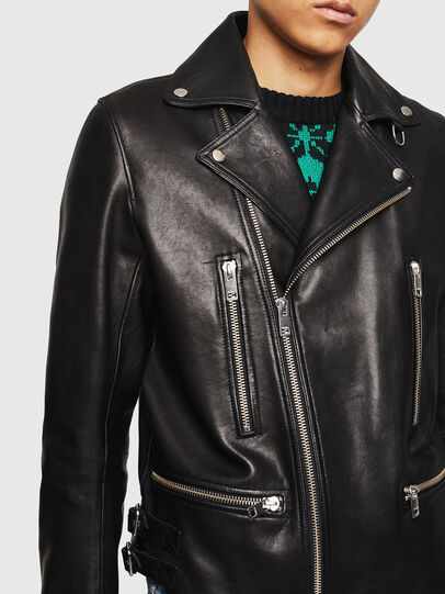 Diesel - L-GOTIV, Black - Leather jackets - Image 3