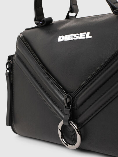 Diesel - LE-ZIPPER SATCHEL, Black - Satchels and Handbags - Image 5