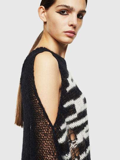 Diesel - M-VANIX, Black/White - Knitwear - Image 6