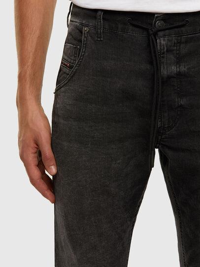 Diesel - Krooley JoggJeans 009FZ, Black/Dark grey - Jeans - Image 3