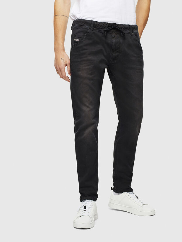 Krooley JoggJeans 0670M, Black Jeans - Jeans