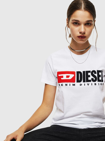 Diesel - T-SILY-DIVISION, White - T-Shirts - Image 4