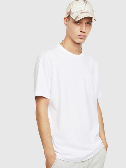 Diesel - T-JUST-POCKET-T17, White - T-Shirts - Image 1