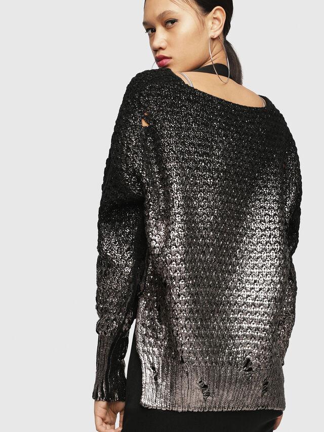 Diesel - M-CLOK, Black/Silver - Knitwear - Image 2