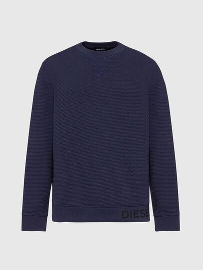 Diesel - S-PEWTER, Dark Blue - Sweaters - Image 1