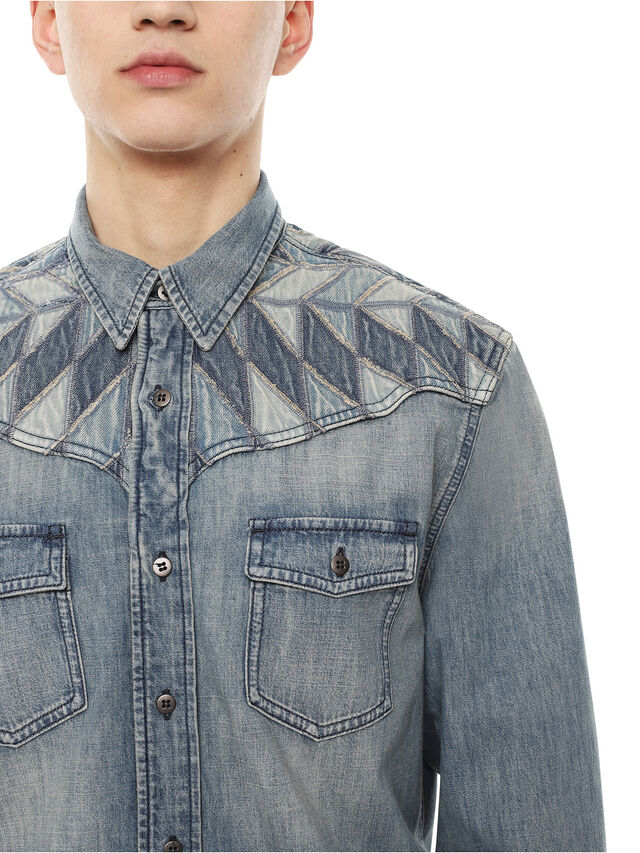 Diesel - SULLYVAN, Blue Jeans - Shirts - Image 3