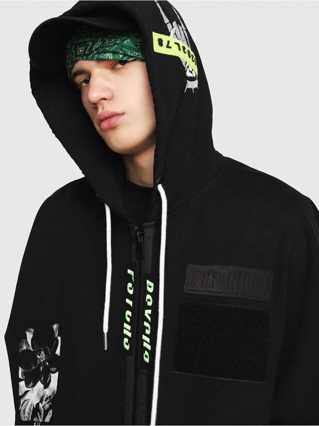 Diesel - S-MAKI-ZIP, Black/Green - Sweaters - Image 4
