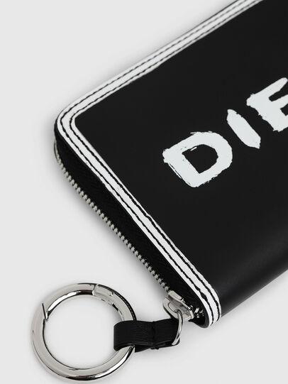 Diesel - GRANATO LC, Black/White - Zip-Round Wallets - Image 4