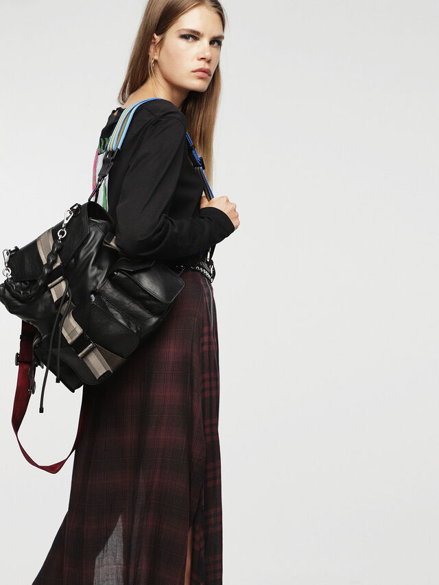 Diesel - MISS-MATCH BACKPACK, Anthracite - Backpacks - Image 5