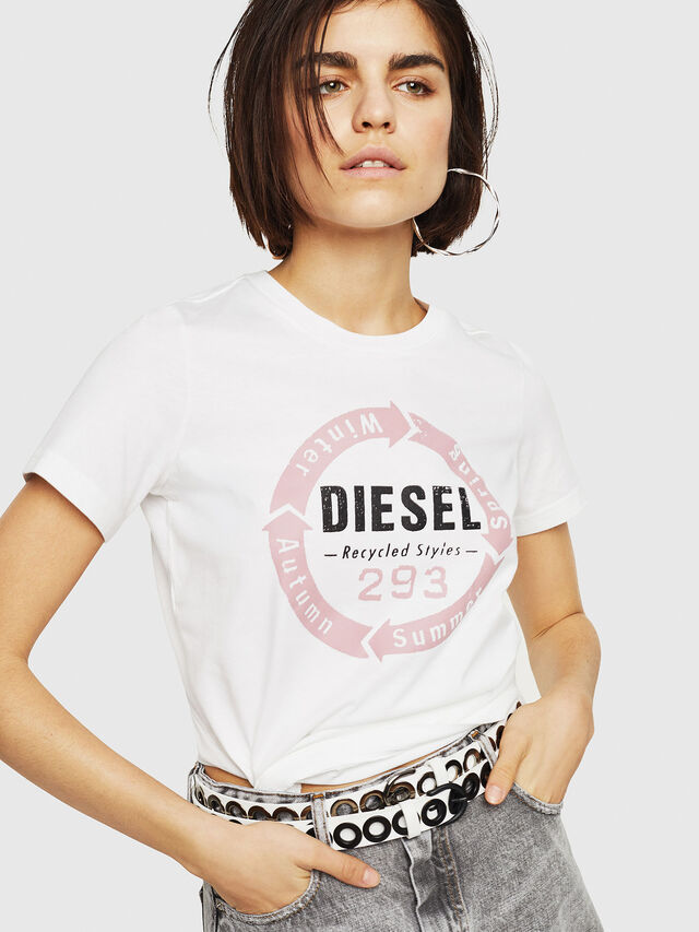 Diesel - T-SILY-C1, White - T-Shirts - Image 1