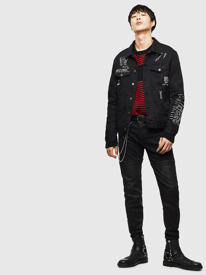 Diesel - CL-NHILL-T, Black - Denim Jackets - Image 8