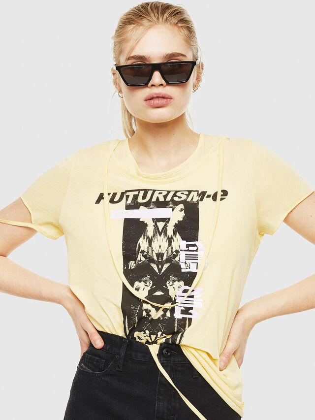 Diesel - T-EMIKO-C, Light Yellow - T-Shirts - Image 4