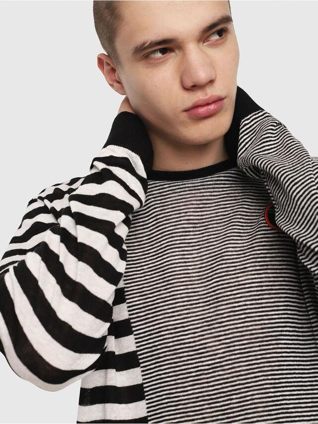 Diesel - K-MICROXX, Black/White - Knitwear - Image 4