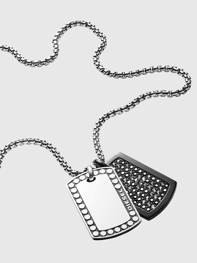 Diesel - DX1169, Silver - Necklaces - Image 2