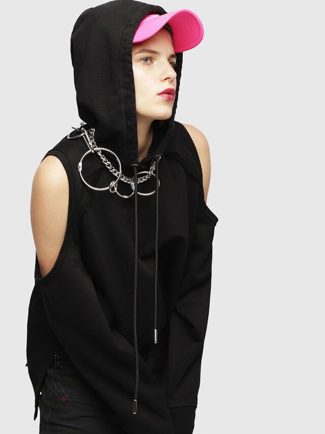Diesel - F-NORIE, Black - Sweaters - Image 3