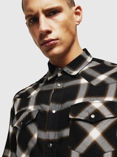 Diesel - S-EAST-LONG-XA, Black/White - Shirts - Image 3